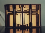votive shade cross triptich